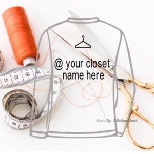 *Add On*Your Closet Name On The Back Of Sweatshirt